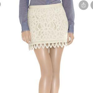 Bird by Juicy Couture Battenburg Cotton Lace Skirt